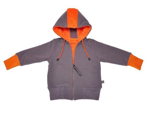 PUNK double-sided jacket orange+grey
