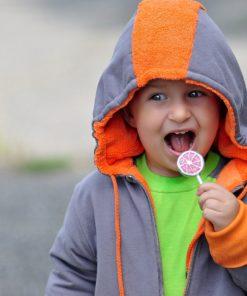 PUNK double-sided jacket orange+grey | longsleeve COLOUR jade+grey