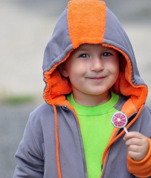 PUNK double-sided jacket orange+grey   longsleeve COLOUR jade+grey
