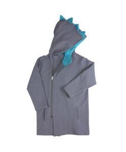 coat dino dinosaur hooded hoodie organic cotton