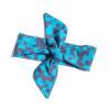 Headband pixels turquoise, organic cotton