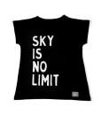 tshirt black sky is no limit