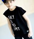 tshirt black sky is no limit m01
