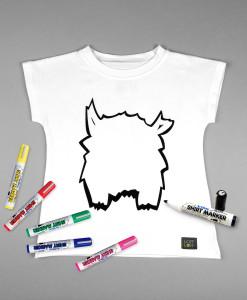 tshirt white monster marker colours